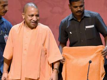 Yogi Adityanath at a programme in Lucknow on...