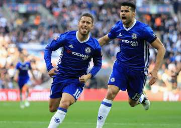 A file image of Chelsea players Diego Costa and...