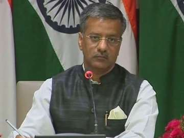 File pic of MEA spokesperson Gopal Baglay - India...