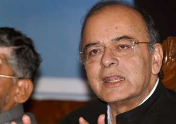 Jaitley addressing media on the firsrt day of the...