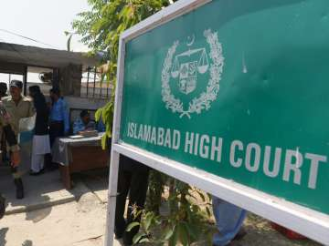 File pic - An outside view of Islamabad HC -...