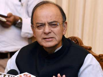 Arun Jaitley addresses media in New Delhi -...