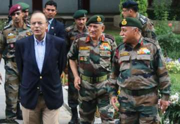 Defence Minister Arun Jaitley was on a one-day...
