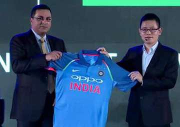 BCCI and OPPO unveil new Team India jersey -...