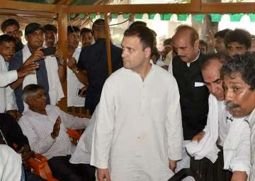 Rahul meeting the victims of Saharanpur caste...