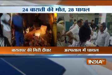 wedding hall collapses in Rajasthan