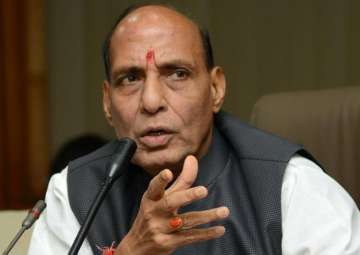 File pic of Home Minister Rajnath Singh - India...