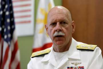 US Pacific Fleet commander Admiral Scott Swift