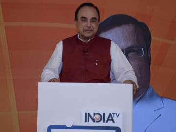 File pic of BJP leader Subramanian Swamy - India...