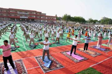 International Yoga Day celebration in India -...