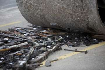 Brazil destroys over 4,000 guns seized from...