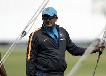 Former India coach Anil Kumble during a nets...