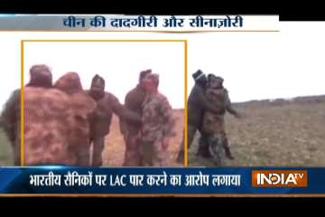 Face-off between Indian and Chinese troops