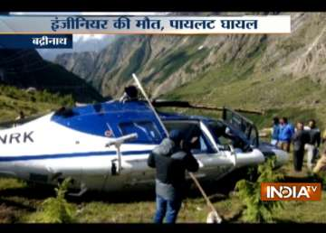Helicopter carrying pilgrims crashes in Badrinath...