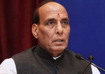 File pic of Union Home Minister Rajnath Singh -...