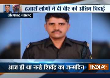 Maharashtra jawan martyred in J&K cremated on...