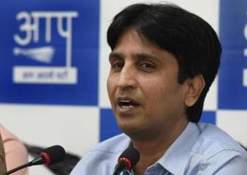 File pic of senior AAP leader Kumar Vishwas -...