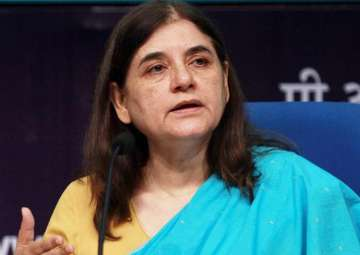 File pic of Union minister Maneka Gandhi - India...