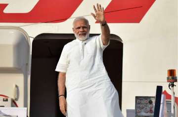 PM Narendra Modi leaves for Portugal on first leg...