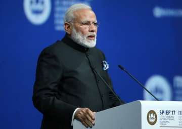 PM Modi speaks at SPIEF in St Petersburg - India...