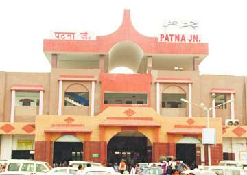 File pic - An outside view of Patna Junction -...