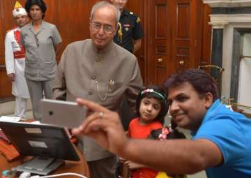President Mukherjee launches 'Selfie with...