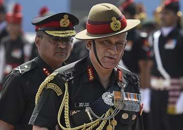 File pic of Indian Army Chief General Bipin Rawat...