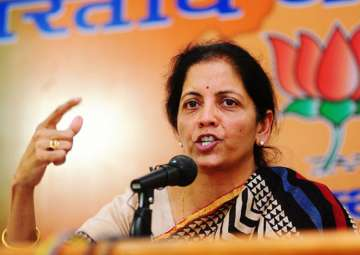 File pic of BJP leader and Union minister Nirmala...