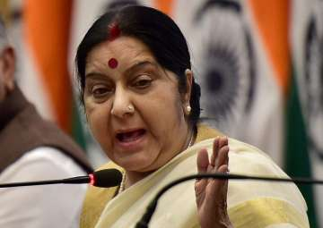 Sushma Swaraj during the MEA's annual press...
