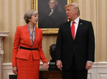 Trump speaks with Theresa May after London terror...