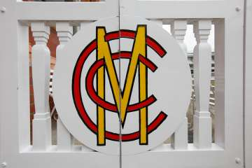 Close-up of the MCC gate at the Pavilion end of...