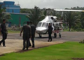 Fadnavis escaped a potential helicopter accident...