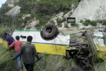 At least 20 feared dead as bus falls in gorge...