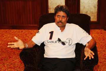 Kapil Dev speaks during a press interview - India...