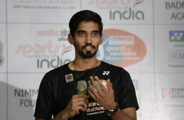 Kidambi Srikanth during a media event - India TV