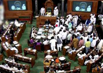 Lok Sabha adjourned for the day amid opposition...