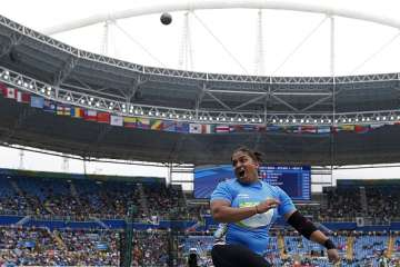 Manpreet Kaur of India competes in the Women's...