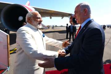 Modi today became first Indian PM to visit Israel...