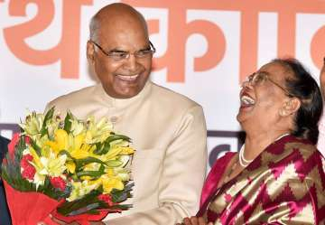 President-elect Ram Nath Kovind along with his...