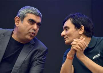 Sikka with CFO MD Ranganath at Infosys...