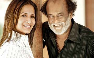 Soundarya Rajinikanth with her father Rajinikanth