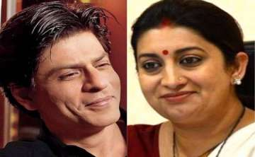Shah Rukh Khan and Smriti Irani