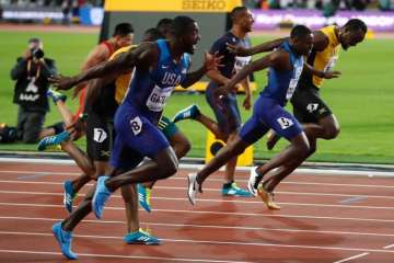 Usian bolt shocked by Justin Gatlin in faewell...