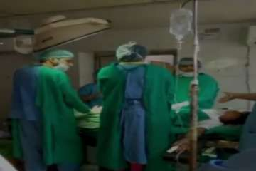 Doctors fight inside Jodhpur's Umaid Hospital's...