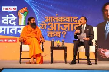 Swami Ramdev at India TV conclave Vande Mataram -...