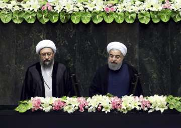 Iran's President Hasan Rouhani swears-in for the...