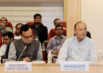 Arun Jaitley chairing the 20th meeting of the GST...