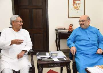 File pic - Nitish Kumar meets Amit Shah at...