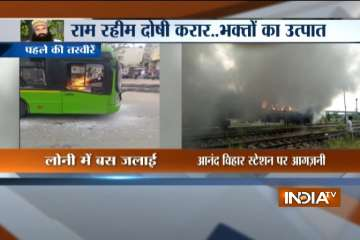 Bus torched in Delhi; police looking into fire on...