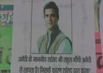 'Rahul Gandhi missing' posters come up in Amethi...